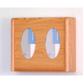 2 Pocket Glove/Tissue Box Holder - Light Oak