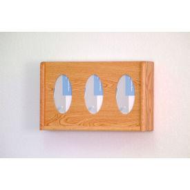 3 Pocket Glove/Tissue Box Holder - Light Oak