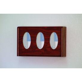 3 Pocket Glove/Tissue Box Holder - Mahogany