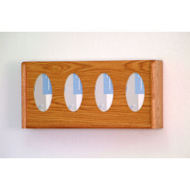 4 Pocket Glove/Tissue Box Holder - Mahogany