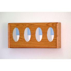 4 Pocket Glove/Tissue Box Holder - Medium Oak