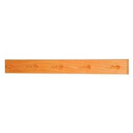 "36"" Coat Rack with 5 Wood Pegs - Light Oak"