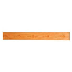 "36"" Coat Rack with 5 Wood Pegs - Medium Oak"