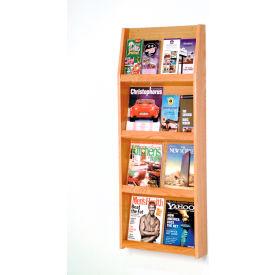 8 Magazine/16 Brochure Wall Display - Light Oak