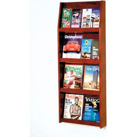 8 Magazine/16 Brochure Wall Display - Mahogany