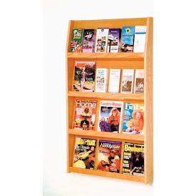 12 Magazine/24 Brochure Wall Display - Light Oak