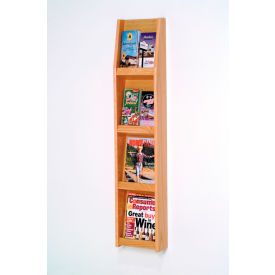 4 Magazine/8 Brochure Wall Display - Light Oak