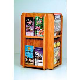 Countertop 8 Pocket Rotary Literature Display - Medium Oak
