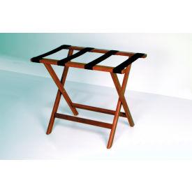 Luggage Rack w/ Straight Legs - Mahogany/Black