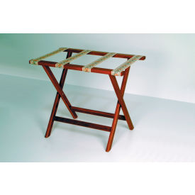 Luggage Rack w/ Straight Legs - Mahogany/Tapestry