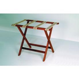 Luggage Rack w/ Straight Legs - Mahogany/Tapestry
