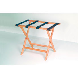 Luggage Rack w/ Straight Legs - Medium Oak/Black