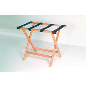 Luggage Rack w/ Straight Legs - Medium Oak/Black