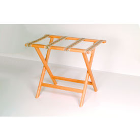 Luggage Rack w/ Straight Legs - Medium Oak/Tapestry