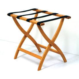 Luggage Rack w/ Convex Legs - Medium Oak/Black