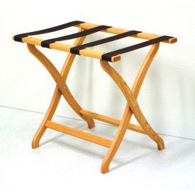 Luggage Rack w/ Concave Legs - Light Oak/Tan
