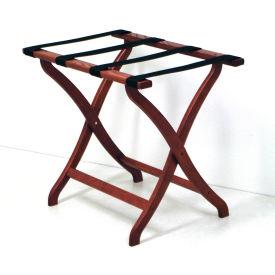 Luggage Rack w/ Concave Legs - Mahogany/Black