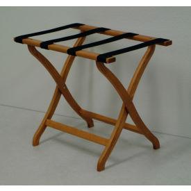 Luggage Rack w/ Concave Legs - Medium Oak/Tan