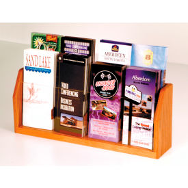 Countertop 8 Pocket Brochure Display - Medium Oak