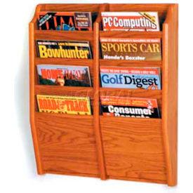 Wooden Mallet Cascade 8 Pocket Magazine Rack, Medium Oak