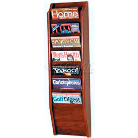 Wooden Mallet Cascade™ 7 Pocket Magazine Rack, Mahogany