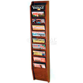 Wooden Mallet Cascade™ 10 Pocket Magazine Rack, Mahogany