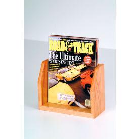 Countertop Single Pocket Magazine Display - Light Oak