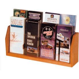 Countertop 2 Pocket Magazine Display - Medium Oak