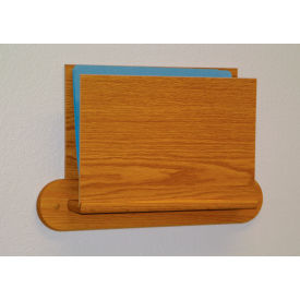 HIPAA Compliant Oak Open Ended Chart Holder - Light Oak