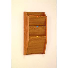 3 Pocket HIPPAA Compliant Chart Holder - Medium Oak