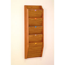 5 Pocket HIPAA Compliant Chart Holder - Medium Oak