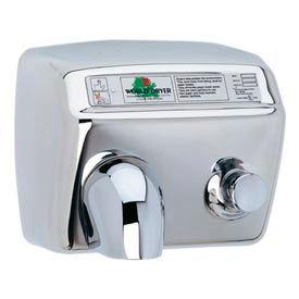 World Dryer Pushbutton Hand Dryer 115V - Bright SS - DA5-972AU
