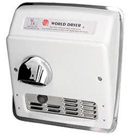 World Dryer Auto Recessed Hand Dryer-  115V -  Brushed SS - DXRA5-Q973AK