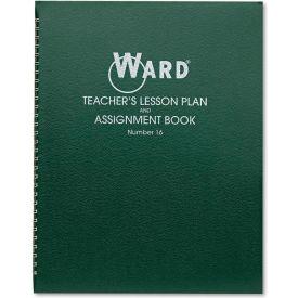"Ward® Lesson Plan Book 16, 11"" x 8-1/2"", White, 6 Classes/Day"