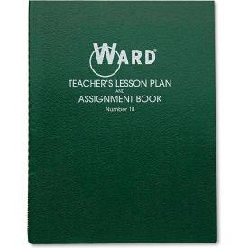"Ward® Lesson Plan Book 18, 11"" x 8-1/2"", White, 8 Classes/Day"