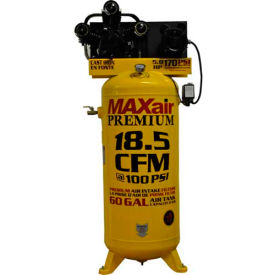 MaxAir Electric Stationary Compressor C5160V1-MAP, 5HP, 208/230V, 60 Gal, 18.5 CFM @ 100 PSI