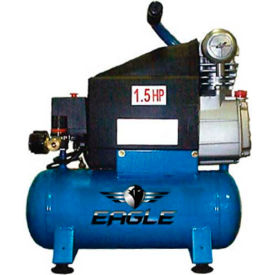 Eagle HD1518L, 2 HP, Hand Carry, 3 Gallon, Hot Dog, 125 PSI, 3.6 CFM, 1-Phase 110V by