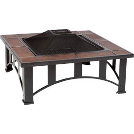 """Fire Sense 34"""" Squared Mission Style Fire Pit 60243 Tuscan Tile"""