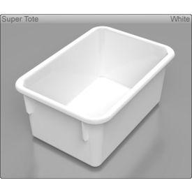 """Tote Tray - 5""""W x 11-1/4""""D x 7-3/4""""H - White"""