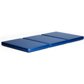 "Whitney Brothers 3-Fold Toddler Rest Mat - 23""W x 46""L x 2""H - Blue"