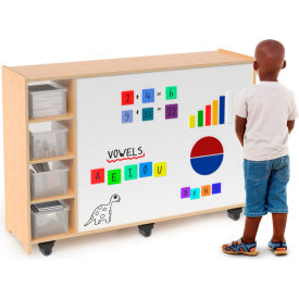 Whitney Brothers Magnetic Whiteboard Mobile Storage Cabinet