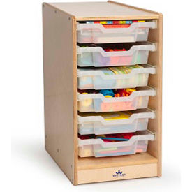 Whitney Brothers Clear Tray Single Storage Cabinet
