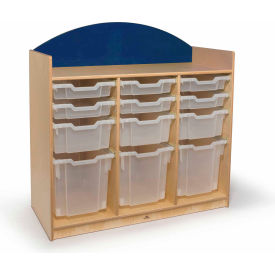Whitney Brothers Rainbow Tray Storage Cabinet Blue