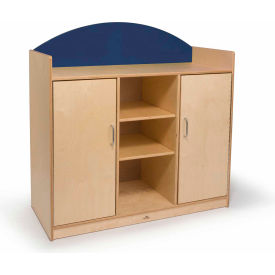 Whitney Brothers Rainbow Sturdy Storage Cabinet Blue