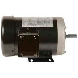 Worldwide Electric Motor NAT1-18-56, GP, TEFC, Rigid, 3 PH, 56, 1 HP, 1800 RPM, 1.8 FLA