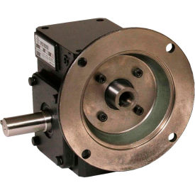 Worldwide HdRF175-5/1-L-56C Cast Iron Right Angle Worm Gear Reducer 5:1 Ratio 56C Frame