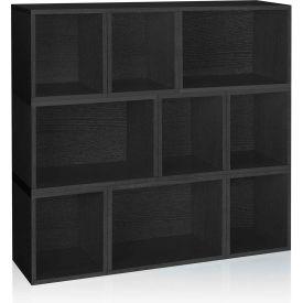 Way Basics Stackable Oxford Modular Storage, Black