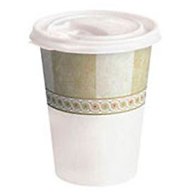 Plastic Lids For Dixie Sage Collection Hot Drink Cups, 8 Oz., 1,000/Carton