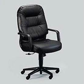 Hon® Leather 2090 Pillow-Soft Series Executive High-Back Swivel/Tilt Chair, Black