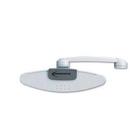 Monitor Mount Swing Arm Copyholder, 10 Sheet Capacity, Light Gray